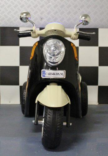 retro kinderscooter 6 volt zwart