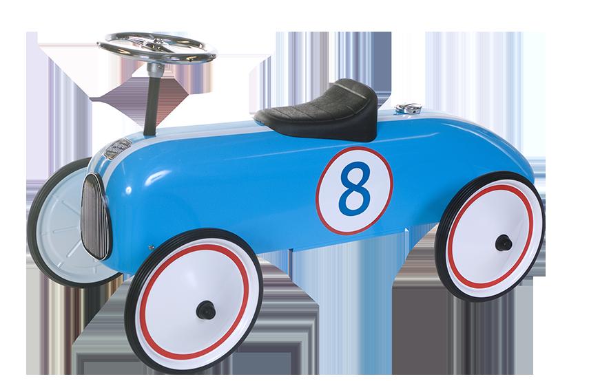 Retro Roller Michael loopauto metaal blauw