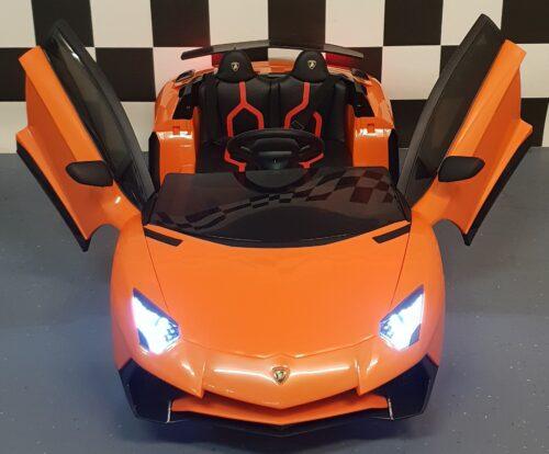 Kinderauto Lamborghini SV oranje 12V 2.4G RC bediening