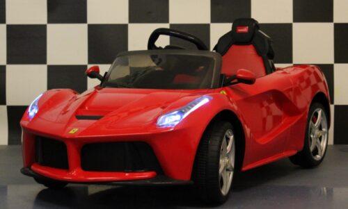 Elektrische kinderauto Ferrari rood 12v 2.4G RC