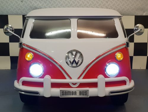 Rode VW T1 kinderauto 12V 2.4G RC bediening