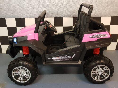 Kinderjeep roze 2 persoons 2.4G afstandbediening 2x 12 volt