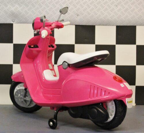 Accu speelgoedscooter Retro roze 12v