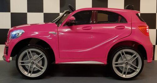 Kinderauto MB A45 roze 12 volt en 2.4G afstandbediening