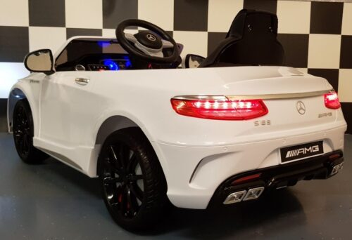 Speelgoedauto MB S63 wit 12V 2.4G RC