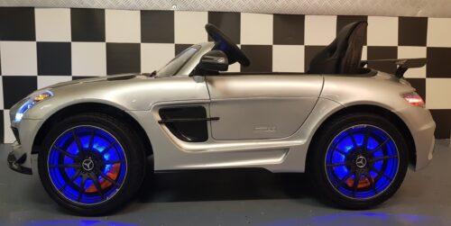 sls elektrische kinder auto zilver