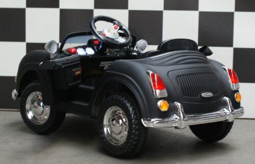 Mini Speedster kinderauto 6 volt accu afstandbediening zwart