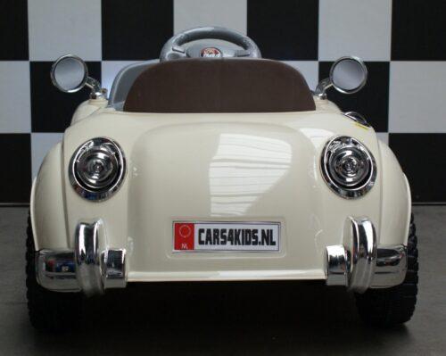Mini Oldtimer beige speelgoedauto op afstand bestuurbaar