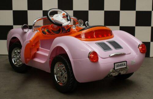 Speelgoedauto 12 volt roze 2.4G RC bediening 356