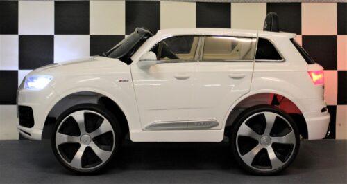 Q7 speelgoedauto 12 volt met RC bediening wit
