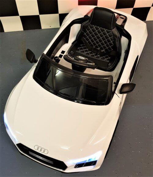 Accu auto Audi R8 Spyder wit 2.4G 12V