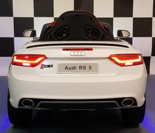 Accu auto Audi RS5 wit 12V 2.4G afstandbeidening