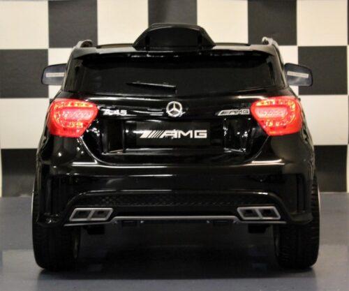 Metallic zwarte AMG A45 speelgoedauto 12V RC