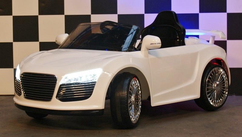 Kinderwagen RX Sport wit 12 volt met afstandbediening