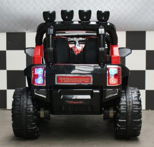 Accu jeep 2 snelheden 12 volt zwart