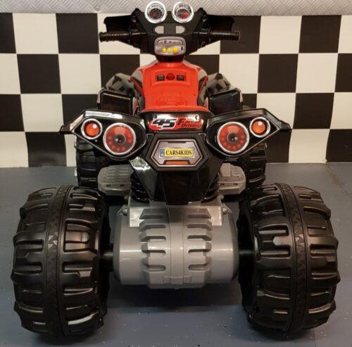 Rood zwarte speelgoedquad 12V accu Team A
