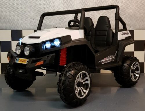 V Twin 4WD elektrische kinderjeep 2.4G RC wit