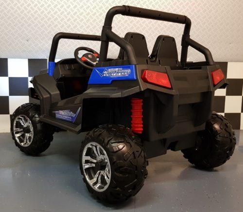 Blauwe elektrische kinder accu jeep 2.4G afstand bestuurbaar