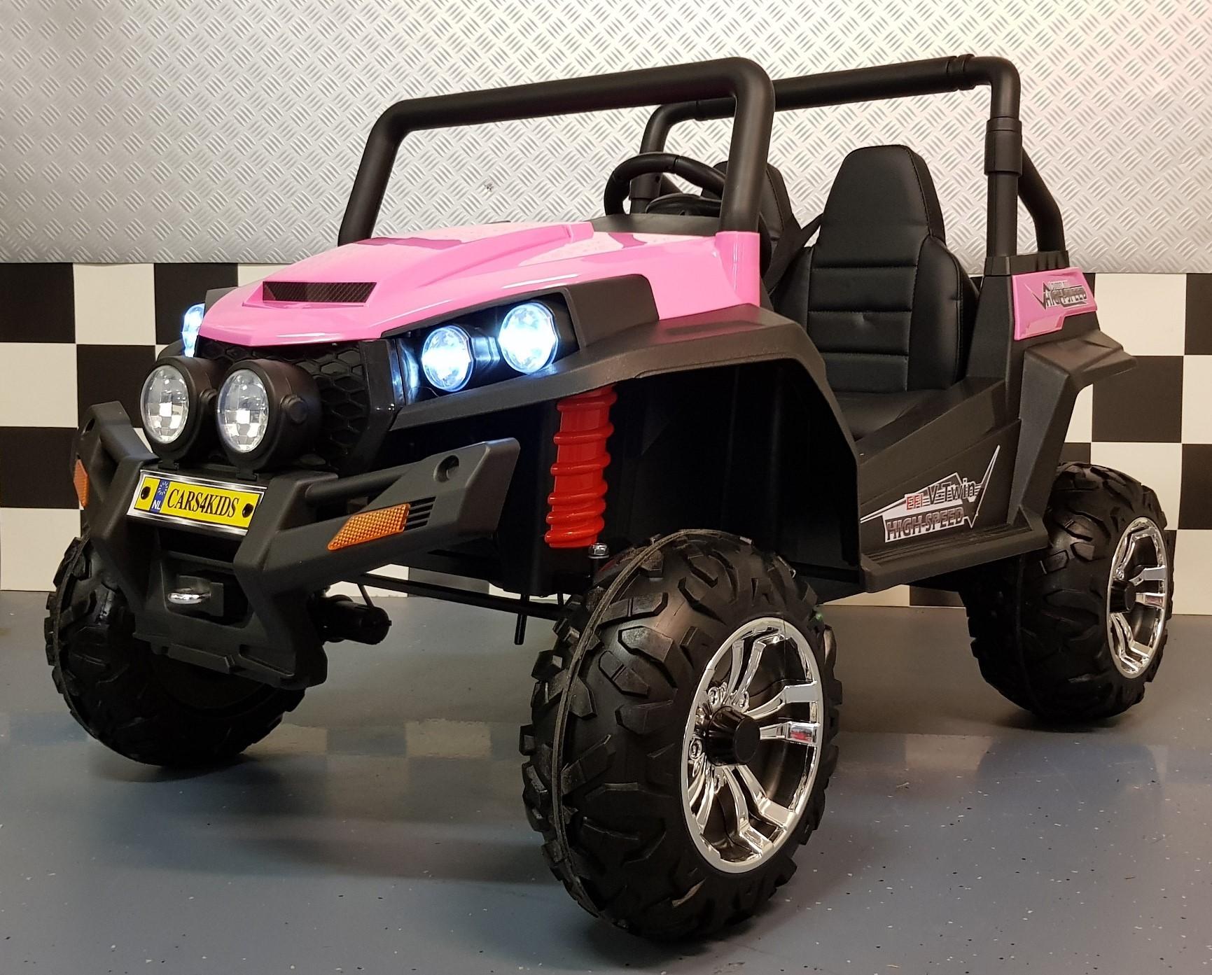 4WD kinderjeep V Twin roze 2x12V 2.4G RC