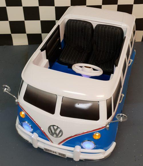12 volt VW T1 kinder bus 2.4G RC bediening blauw