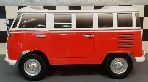 Elektrische 12 volt Samba kinderauto VW bus rood
