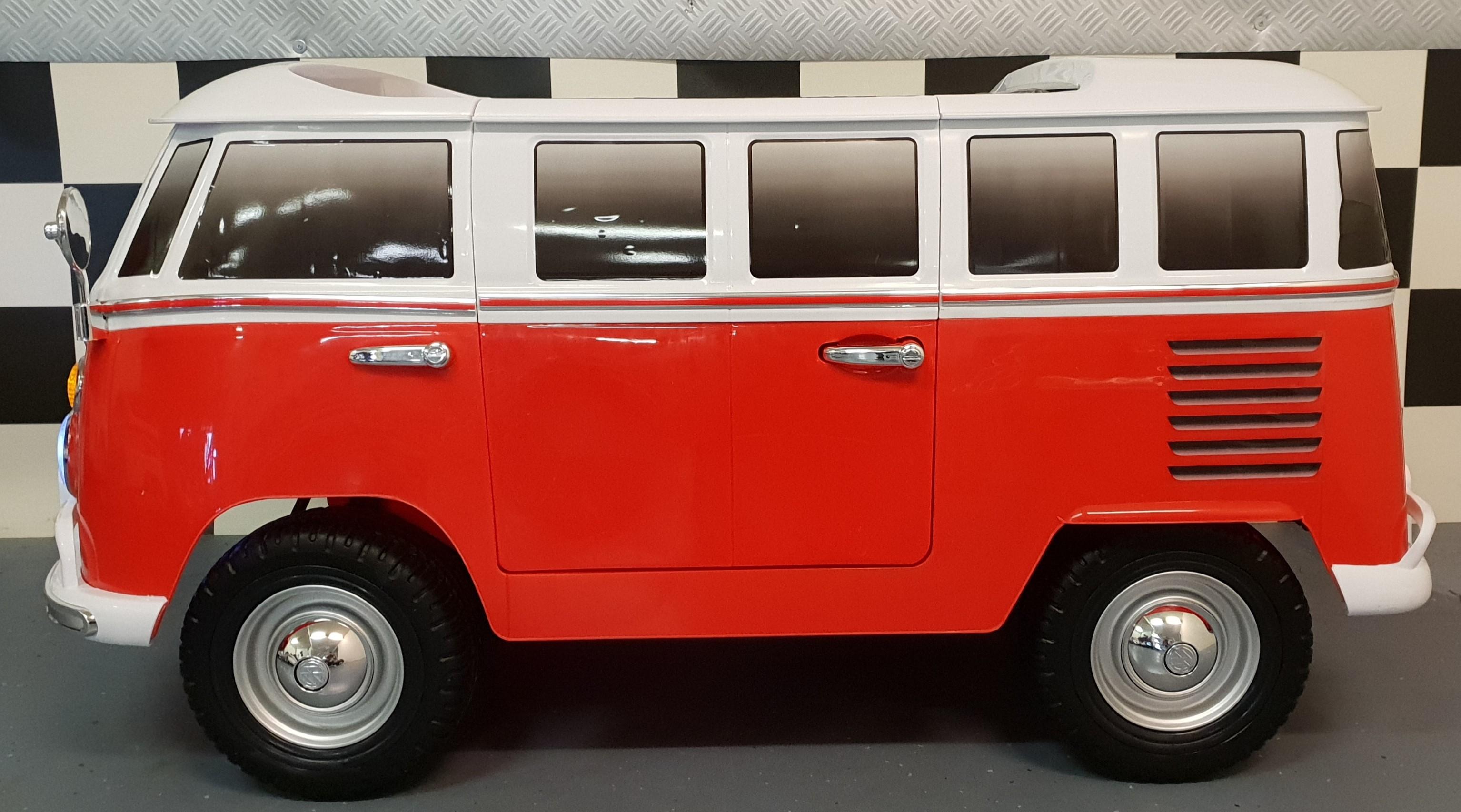 volkswagen samba t1 kinderbus rood 12 volt 2 4g. Black Bedroom Furniture Sets. Home Design Ideas