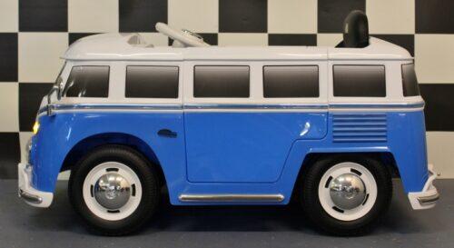 VW transporter kinder bus met afstandbediening 12v blauw