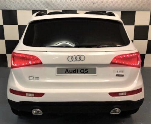Audi Q5 speelgoedauto 12 volt accu en afstandbediening wit