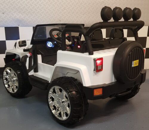Powerjeep 2 persoons kinderjeep wit 2.4G RC