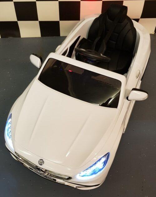 AMG Mercedes S63 witte speelgoedauto 12V en RC bediening