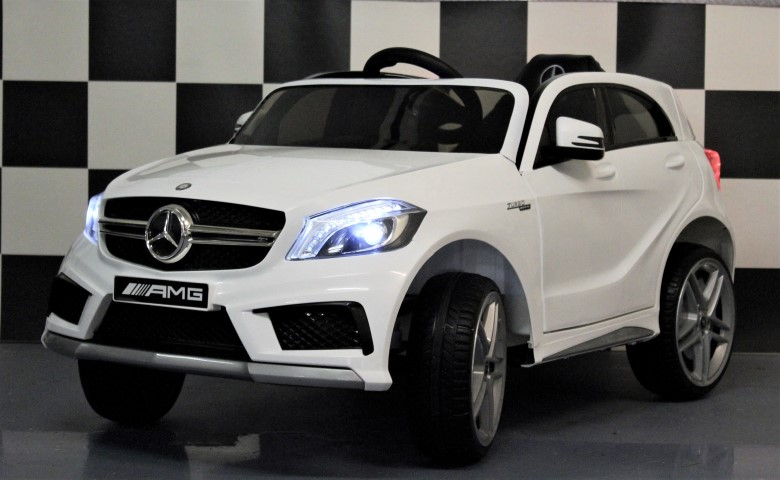 kinderauto mercedes a45 amg kinderauto wit 12v en 2 4g rc bediening. Black Bedroom Furniture Sets. Home Design Ideas