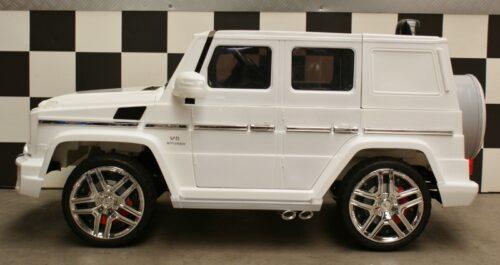 Witte Mercedes G63 speelgoedauto 12 volt 2.4g rc