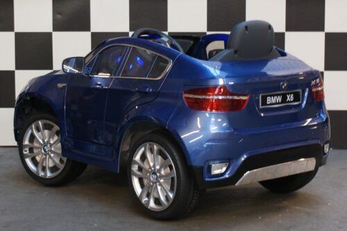 BMW X6 blauw 12v rc kinderauto