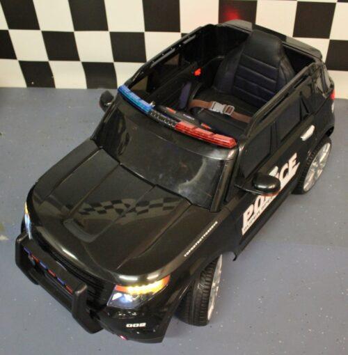 12 volt zwarte politieauto met afstandbediening